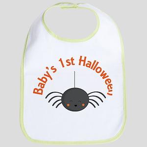 1st Halloween Spider Bib