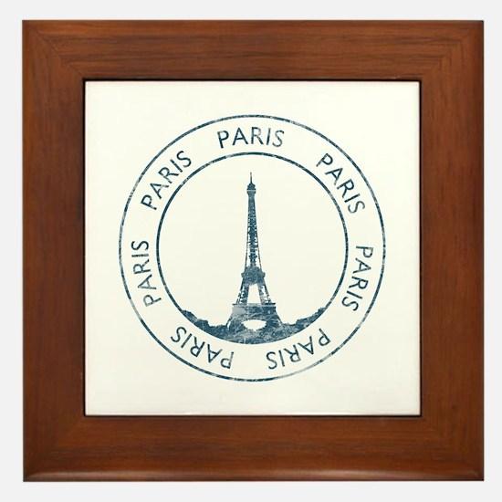 Vintage Paris Framed Tile