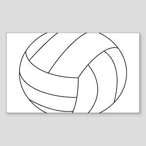 Volleyball Sticker (Rectangle 10 pk)