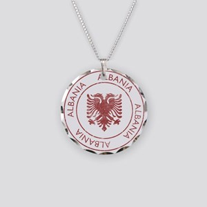Vintage Albania Necklace Circle Charm