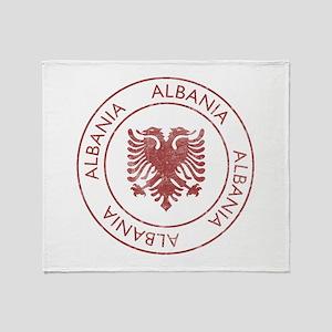 Vintage Albania Throw Blanket