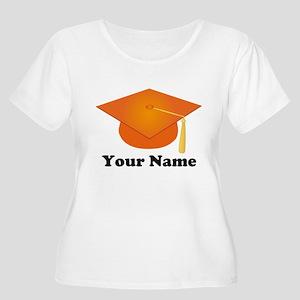 Personalized Orange Graduation Hat Women's Plus Si