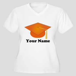 Personalized Orange Graduation Hat Women's Plus Si