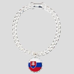 Cool Slovak National flag designs Charm Bracelet,