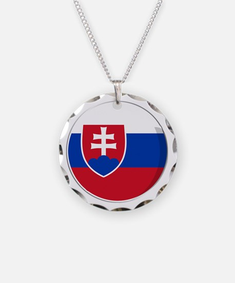 Cool Slovak National flag designs Necklace