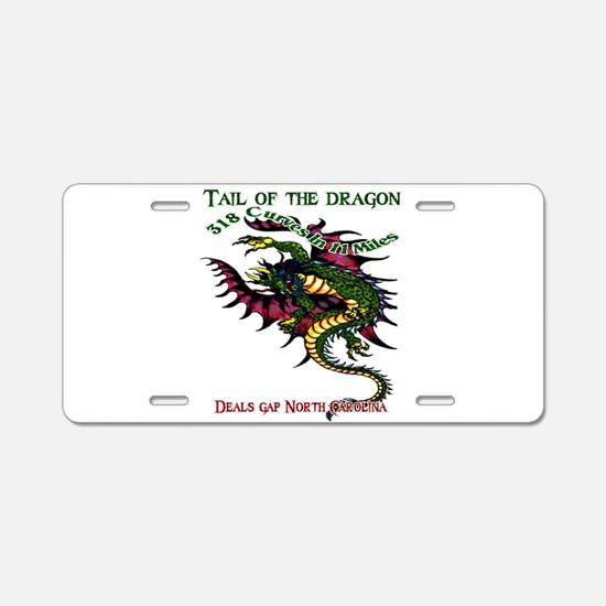 Tail Of The Dragon Aluminum License Plate