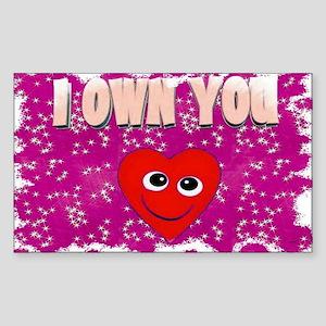 i own you Sticker (Rectangle 10 pk)