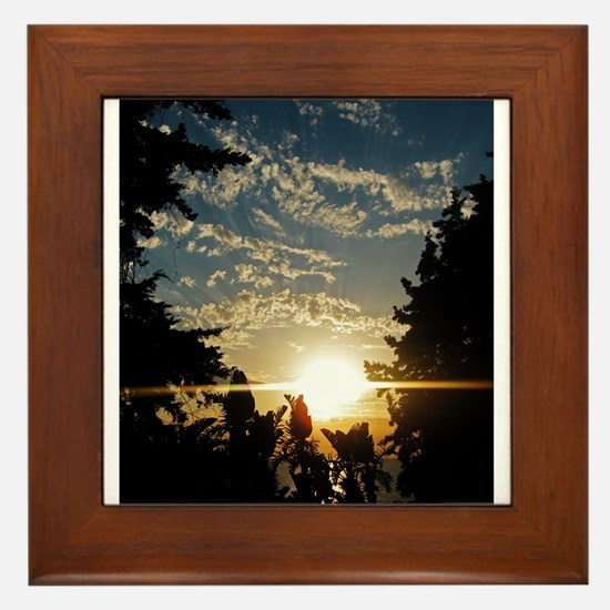Cute Farewell Framed Tile