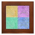 Fingerprints Framed Tile