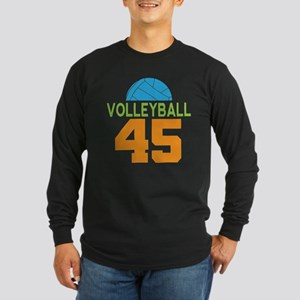 Volleyball Player Number 45 Long Sleeve T-Shirt
