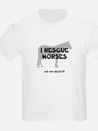 I RESCUE Horses T-Shirt