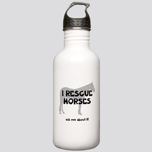 I RESCUE Horses Stainless Water Bottle 1.0L