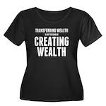 Creating Wealth Women's Plus Size Scoop Neck Dark