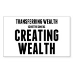 Creating Wealth Sticker (Rectangle 50 pk)