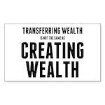 Creating Wealth Sticker (Rectangle 10 pk)