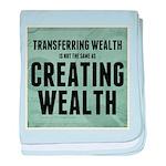 Creating Wealth baby blanket