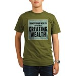 Creating Wealth Organic Men's T-Shirt (dark)