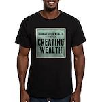 Creating Wealth Men's Fitted T-Shirt (dark)