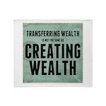 Creating Wealth Throw Blanket