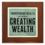 Creating Wealth Framed Tile