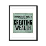 Creating Wealth Framed Panel Print