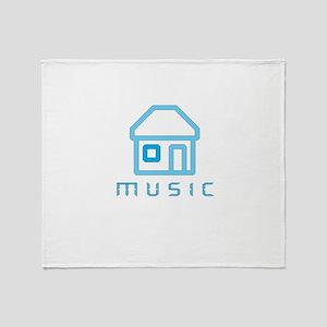 House Music Throw Blanket