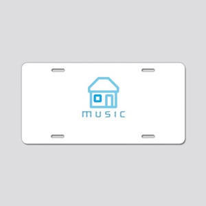 House Music Aluminum License Plate