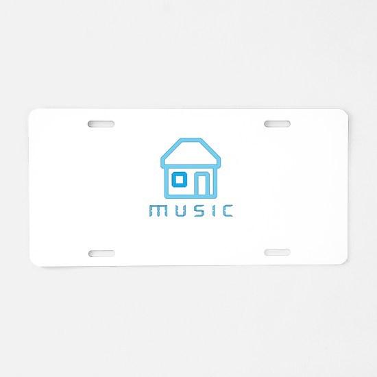 House Music Aluminum License Plate