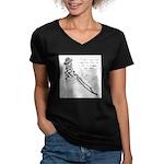 Real Bad Idea Women's V-Neck Dark T-Shirt