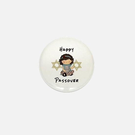 Happy Passover Girl Mini Button