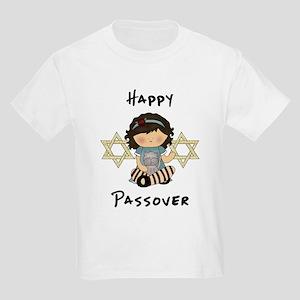 Happy Passover Girl Kids Light T-Shirt