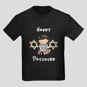 Happy Passover Girl Kids Dark T-Shirt