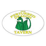 Perturbed Dragon Tavern Sticker (Oval)
