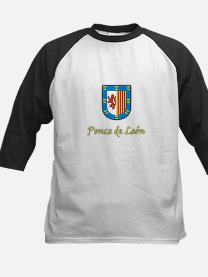 Ponce de Leon Coat-of-Arms Kids Baseball Jersey