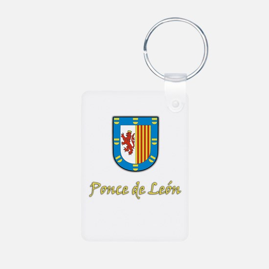 Ponce de Leon Coat-of-Arms Keychains