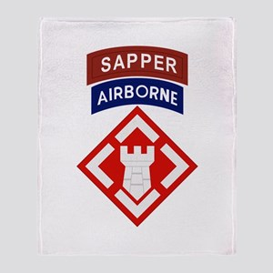 20th Engineer Sapper Throw Blanket