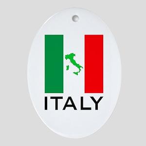 italy flag 01 Ornament (Oval)