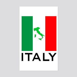 italy flag 01 Sticker (Rectangle)