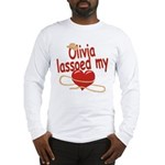 Olivia Lassoed My Heart Long Sleeve T-Shirt