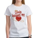 Olivia Lassoed My Heart Women's T-Shirt