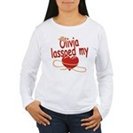 Olivia Lassoed My Heart Women's Long Sleeve T-Shir