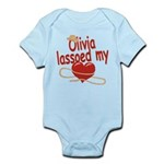 Olivia Lassoed My Heart Infant Bodysuit