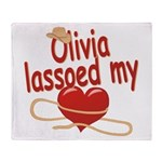 Olivia Lassoed My Heart Throw Blanket