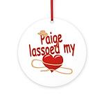 Paige Lassoed My Heart Ornament (Round)
