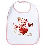 Paige Lassoed My Heart Bib