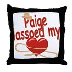 Paige Lassoed My Heart Throw Pillow