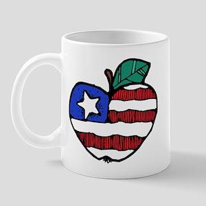 Patriotic Apple Mug
