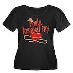Paula Lassoed My Heart Women's Plus Size Scoop Nec