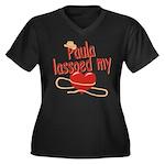 Paula Lassoed My Heart Women's Plus Size V-Neck Da