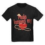 Paula Lassoed My Heart Kids Dark T-Shirt